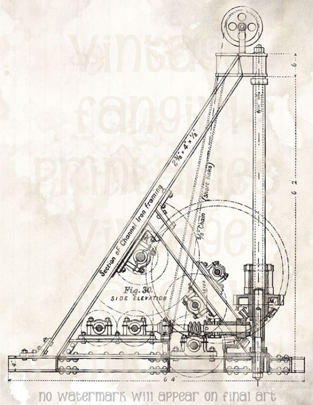 Really Fantastic Engineering Drawing Of The Mechanism That Raises And Lowers Elevators Comes From A Late 1800s Magazine Use To Print