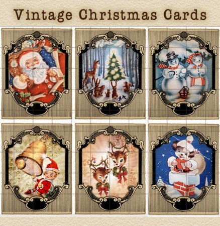 High Resolution Vintage Christmas Card Images