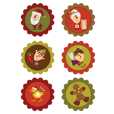 Christmas Cupcake Toppers or Gift Tags
