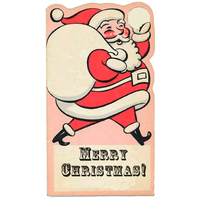 Vintage Santa Hang Tags to Print