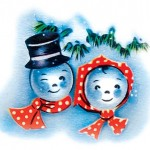 Printable Retro 1950's Snowman Picture