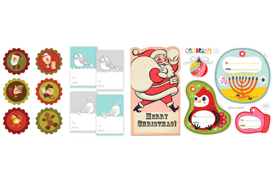 Free Printable Christmas and Holiday Gift Tags