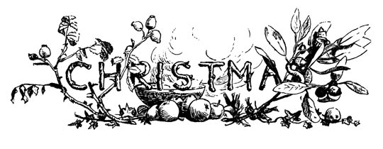 Vintage Christmas Card Lettering