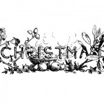 1875 Victorian Christmas Lettering