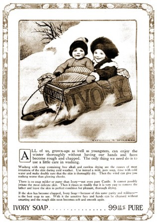 Vintage Ivory Soap Ad for Christmas 1912