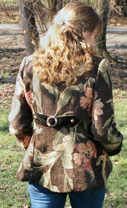 My vintage inspired military jacket sewing project - back view