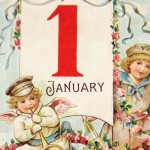 Vintage Early 1900's Happy New Year Postcard