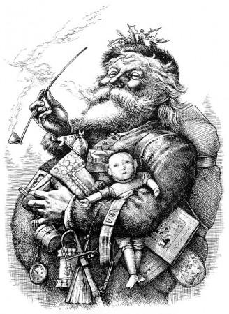 Vintage Christmas Santa Picture