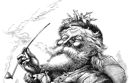 old fashion santa coloring pages - photo#14