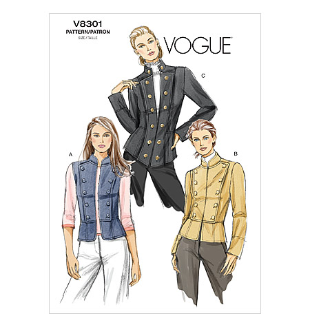 Out of print Vogue V8301 Military Jacket and Vest