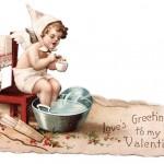 Antique Cherub Valentine's Day Die Cut Artwork to Print