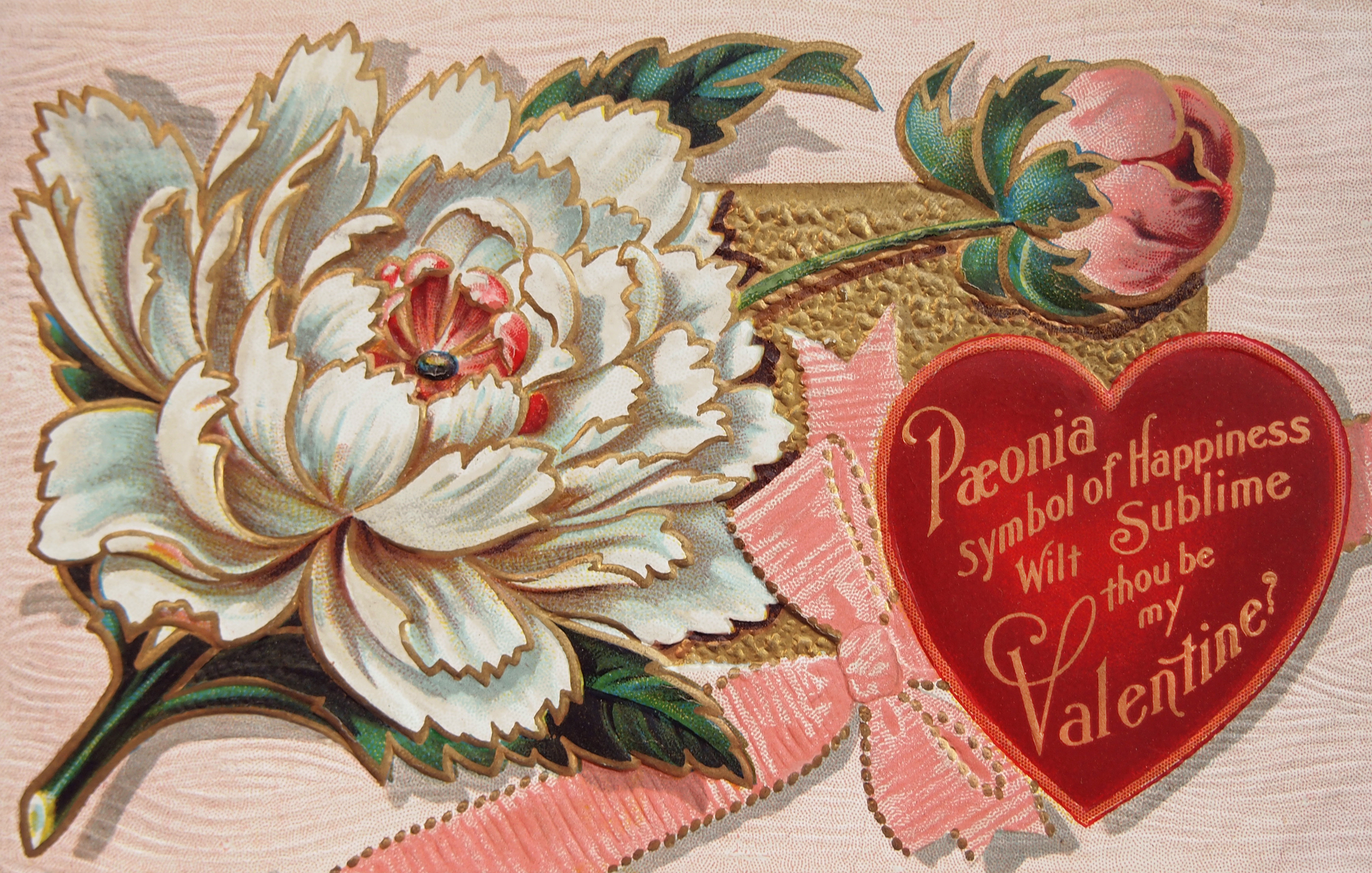 Free High Resolution Vintage Victorian Valentines Day Postcard
