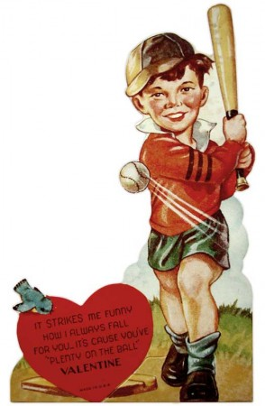 Vintage 1940's Baseball Valentine for Boys