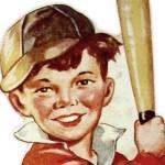 Vintage Printable Baseball Valentine for Boys