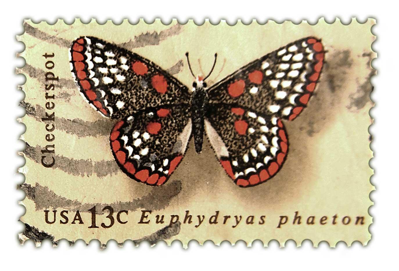 Vintage Postage Stamp Art