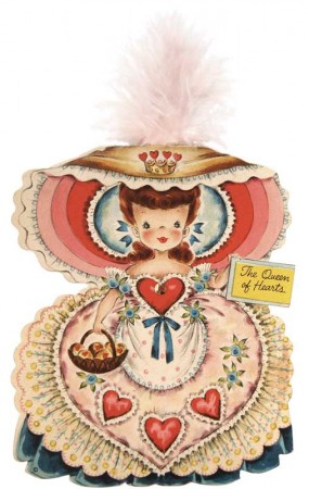 Vintage Queen of Hearts Paper Doll Hallmark Card