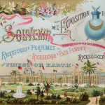 Exquisite Victorian Trade Card from the 1884 New Orleans World Fair