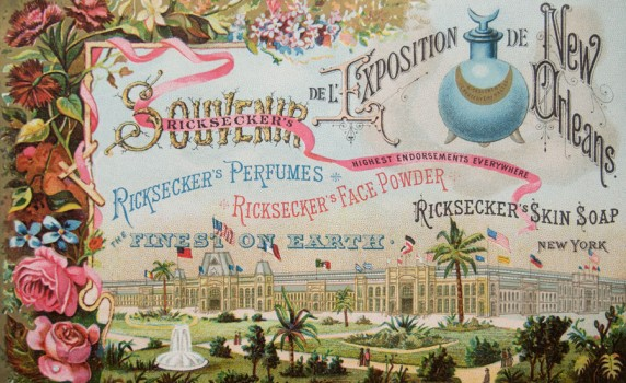 Antique 1884 World&#039;s Fair Trade Card for Ricksecker Perfumes