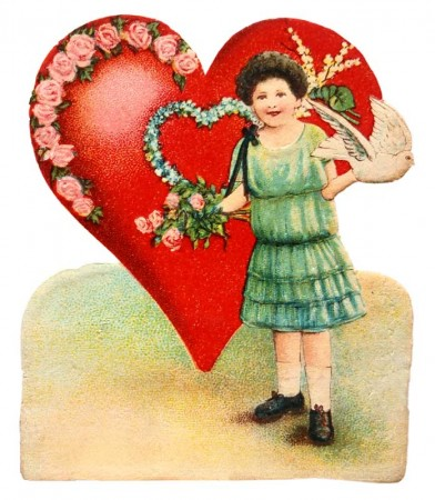 Edwardian Valentine's Day Card to Print