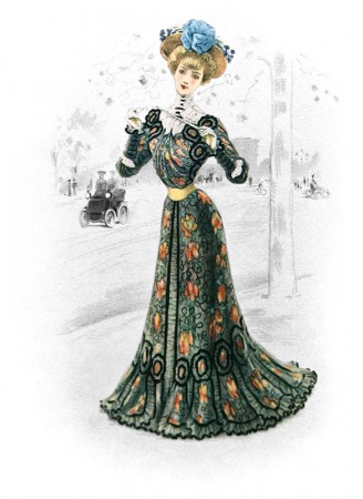 Vintage French Ephemera Fashion Plate