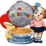 Cute and Kitschy Vintage 'Waffle' Valentine to Print