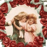 Victorian Valentine Flower Wreath Clip Art