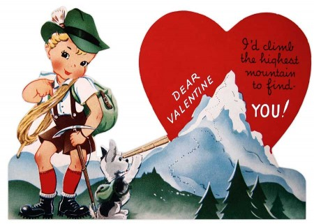 Vintage German Mountain Boy Valentine