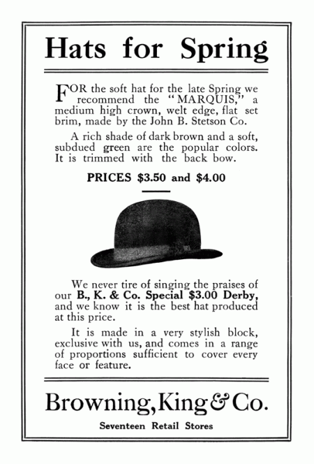 Vintage Men's Fashion Ad from 1913