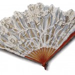 Vintage Clip Art of a Victorian Lace Hand Fan