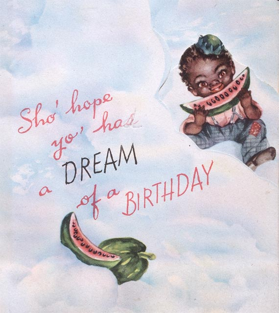 Racist Vintage Birthday Card