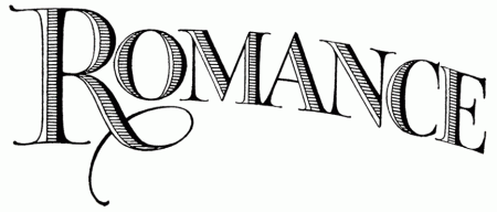 "Vintage Lettering for Valentine's Day - ""Romance"""