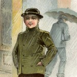 Vintage Victorian Era Rainy Day Rubber Boots Ad