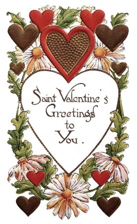 Vintage Postcard St. Valentine's Greetings to You