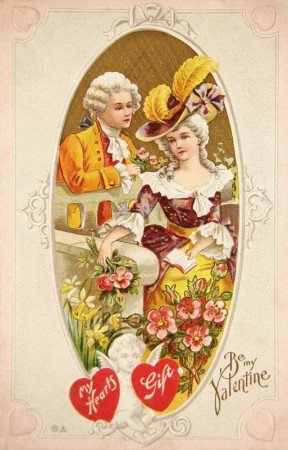Vintage Victorian Era Valentine Postcard