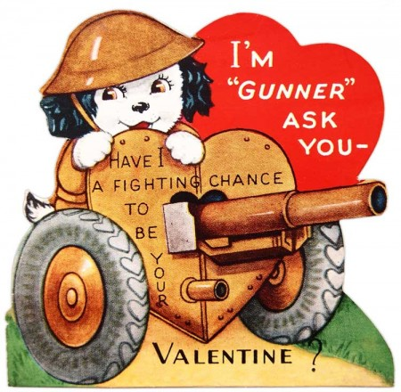 Vintage World War 2 Themed Valentines Day Card  Vintage Fangirl