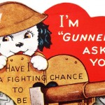 Vintage World War 2 Themed Valentine's Day Card