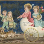 Vintage Easter Ephemera of an 1886 Spring Easter Card