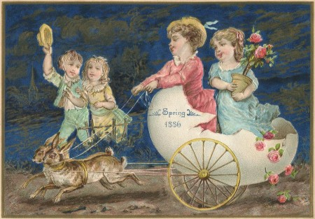 1886 Spring Easter Antique Card - Click for instant printable art