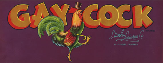 The Gay Cock Vintage Fruit Crate Label
