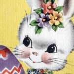 Retro Easter Bunnies on a Cute Kitschy Card