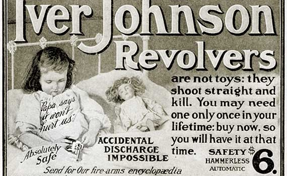 Scary Vintage Gun Ad for Iver Johnson Revolvers