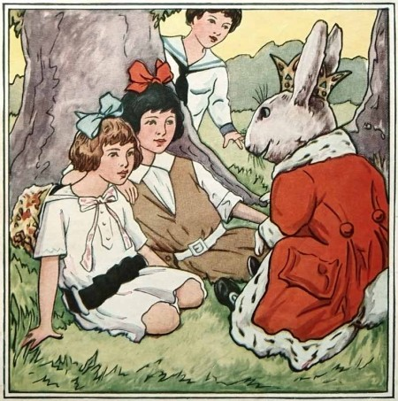 Vintage Children's Book Easter Illustration - Click for larger printable picture