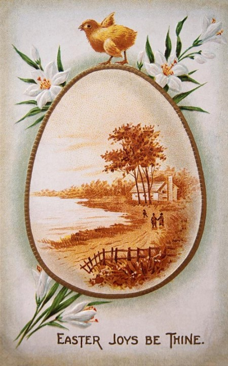 Vintage Easter Egg Postcard - Click for printable larger image