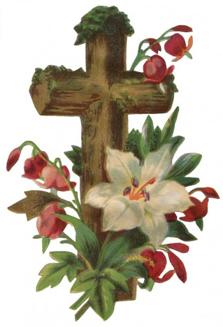 Vintage Easter Cross Art - Click for printable picture