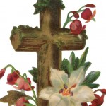 Vintage Easter Cross with Flowers Artwork