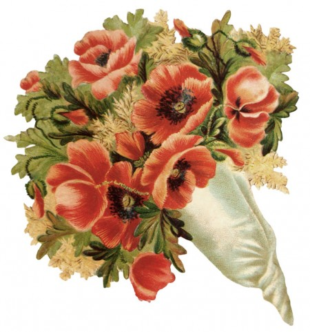 Victorian Vintage Flower Bouquet - Click for Larger Print Image