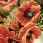 Victorian Poppy Flower Bouquet Clip Art