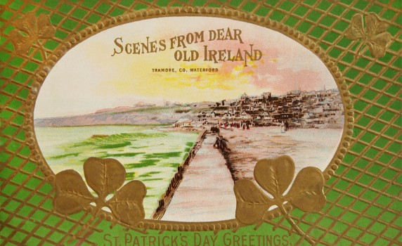 Vintage Happy St. Patrick's Day Irish Postcard - Click for printable image