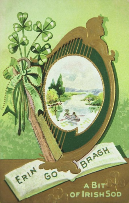 Vintage Erin Go Bragh St. Patrick's Day Card - Click for printable postcard