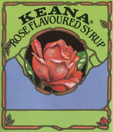 Printable Vintage Rose Syrup Bottle Label - Click for printable image